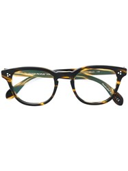 Oliver Peoples Kauffman Round Frame Glasses Acetate Brown