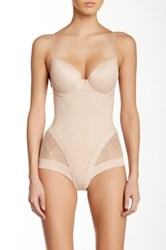 Heavenly Secrets Power Mesh Molded Cup Bodysuit Beige