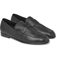 Harry's Of London Harrys Edward Textured Leather Penny Loafers Black