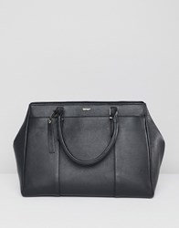 Paul Costelloe Real Leather Structured Tote Bag Black