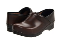 Sanita Professional Cabrio Mens Brown Brush Off Leather Men's Clog Shoes