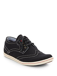 Ben Sherman Nick Canvas Brogue Sneakers Black
