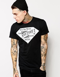 Diesel T Shirt T Dam Diamond Logo Print Black
