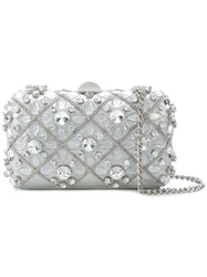 Rodo Embellished Hardshell Clutch Metallic
