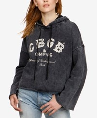 Lucky Brand Cotton Graphic Hoodie Lucky Black