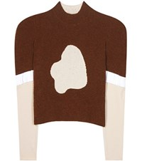 J.W.Anderson Knitted Terry Top Brown