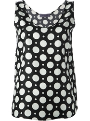 Emanuel Ungaro Polka Dot Print Tank Top Black