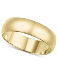 Macy's 14K Gold Ring 6Mm Wedding Band