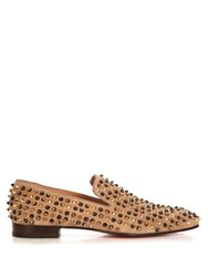 Christian Louboutin Popcorn Spike Embellished Slip On Shoes