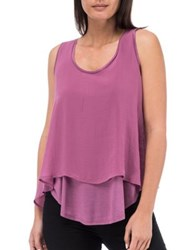 B Collection By Bobeau Double Layer Tank Top Navy