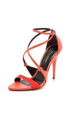 Narciso Rodriguez Ava Strappy Sandals Coral