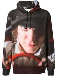 Undercover Contrast Print Hoodie Multicolour