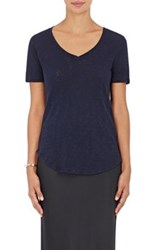 Atm Anthony Thomas Melillo Women's Cotton V Neck T Shirt Navy