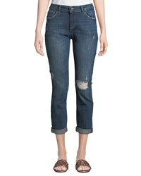 Dl1961 Stevie Distressed Slim Boyfriend Jeans Medium Blue