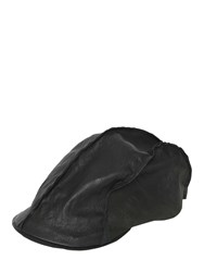 Move Textured Leather Flat Cap