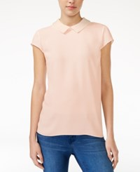 Maison Jules Embellished Collar Top Only At Macy's Pearl Blush