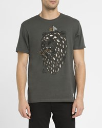 Element Grey Timber Eye Print T Shirt