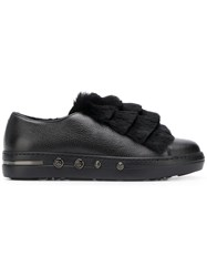 Baldinini Layered Fur Sneakers Black
