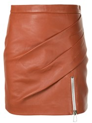Manning Cartell Mini Fitted Skirt Brown
