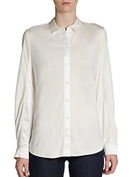Pink Tartan Textured Button Front Shirt Ivory