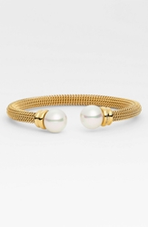 Majorica 12Mm Pearl Bangle Gold White Pearl