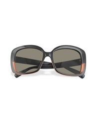 Marc Jacobs Black And Red Square Sunglasses Black Gradient Brown