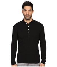 7 Diamonds Davos Long Sleeve Shirt Black Men's Long Sleeve Pullover