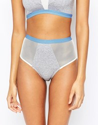 Wolf And Whistle Jersey High Waist Brief Grey