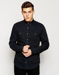 Pull And Bear Pullandbear Denim Shirt Darkblue
