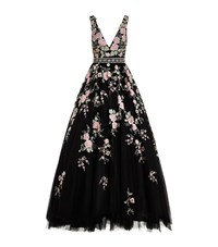 Jovani Embroidered Flower Motif Gown Multi