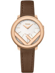 Fendi F Logo Watch Brown