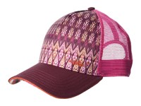 Prana La Viva Trucker Hat Black Cherry Izabel Caps Multi