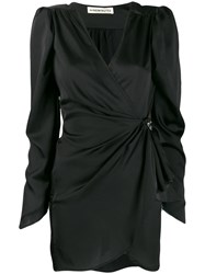 Nineminutes Wrap Front Mini Dress Black