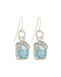 Jude Frances 18K White Gold Aquamarine And Diamond Earring Charms