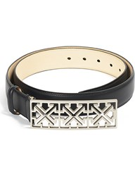 Off White C O Virgil Abloh Arrows Leather Belt Black