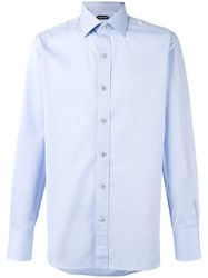 Tom Ford Chevron Stripe Shirt Blue
