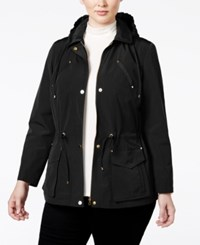Charter Club Plus Size Hooded Anorak Jacket Only At Macy's Deep Black