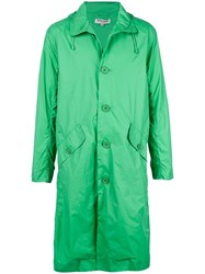 Opening Ceremony Hooded Trench Coat Green