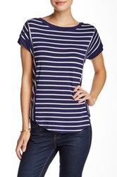 Cable And Gauge Stripe Button Back Tee Multi