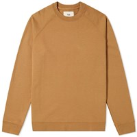 Folk Rivet Crew Sweat Brown