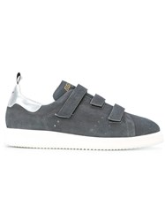 Golden Goose Deluxe Brand Metallic Leather Trimmed Sneakers Grey