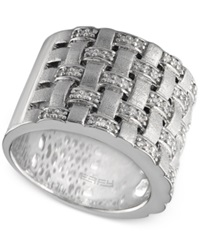Macy's Balissima By Effy Woven Diamond Ring 1 3 Ct. T.W. In Sterling Silver