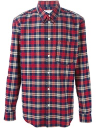 Julien David Classic Plaid Shirt Red