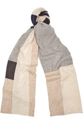 Madeleine Thompson Color Block Cashmere Scarf