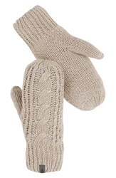 The North Face Women's Cable Knit Mittens Vintage White