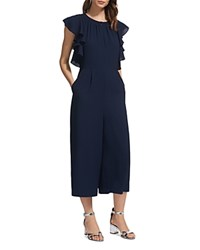 009c20b0a059 Whistles Zyta Frill Jumpsuit Navy