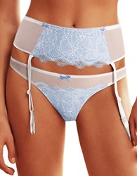 B.Tempt'd Sultry Garter Belt Bridal White