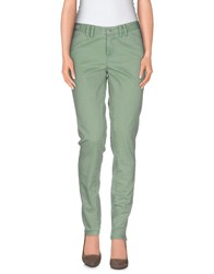 Pt0w Denim Denim Trousers Women Light Green