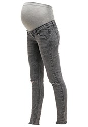 Mama Licious Mlsammy Slim Fit Jeans Dark Grey Denim
