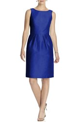 Women's Alfred Sung Boatneck Sheath Dress Royal